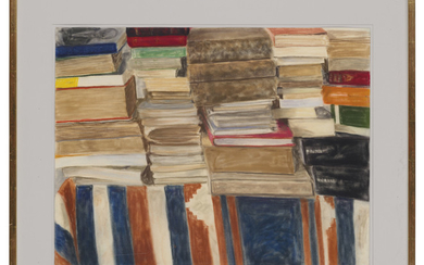 Avigdor Arikha (1929-2010), Pile of books on the table