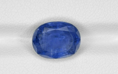 Blue Sapphire, 6.06ct, Mined in Burma, Certified by IGI