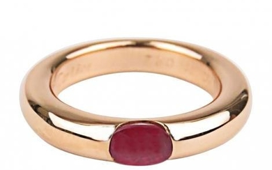 Cartier Ellipse yellow gold & ruby ring