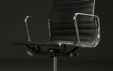 Charles Eames. Office chair model EA 117, black leather