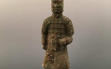 Chinese Bronze Terracotta Warriors Model