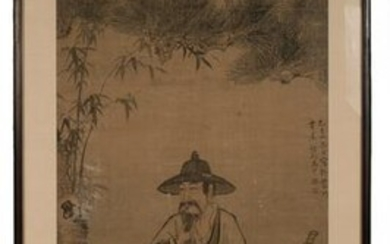 Chinese Painting of Scholar by Ma Chong