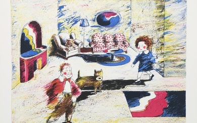 Cliff Ara Condak, Jiggs and Annie, Lithograph