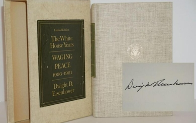 "Dwight D. Eisenhower Signed ""The White House Years"
