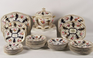 ENGLISH IRONSTONE PORCELAIN PARTIAL DINNER SERVICE