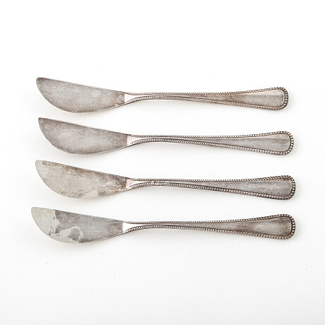 Edition Argent Butter knives 4 pcs Sterling silver Edition Argent Smörknivar 4 st Sterlingsilver