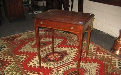 Edwardian Style Lamp Table with Crossbanded deoration on 4 I...
