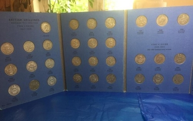 English and Scottish silver shillings collection, presented...