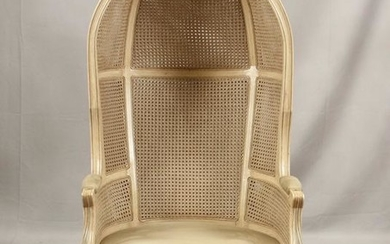 FRENCH, CANED BACK, BALLOON CHAIR