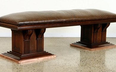 FRENCH MAHOGANY BENCH ARCHITECTURAL FORM C.1940