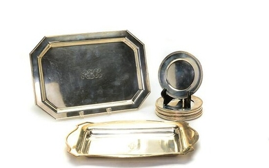 Fourteen Sterling Silver Serving Articles Including