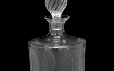 French Lalique Crystal Femmes Antiques Decanter.