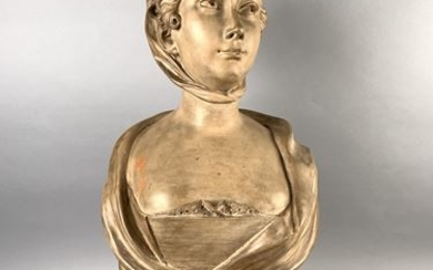 French school of the 19th century. Female bust...