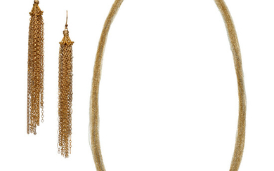 Gold Jewelry Suite The 14k tri-color gold suite includes...