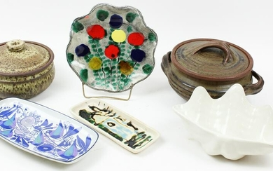 Group of Mid Century Pottery Tableware