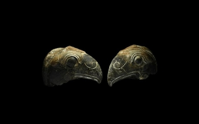 Hellenistic Carved Head of a Bird of Prey