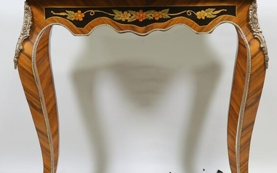 WALNUT AND SATINWOOD INLAID ITALIAN CENTER TABLE