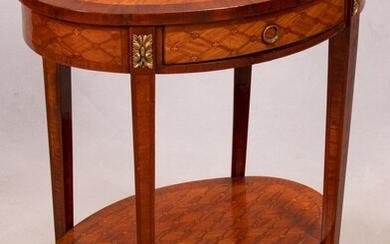 """LOUIS XVI STYLE FRUITWOOD SIDE TABLE, H 29"""", W 24"""""""