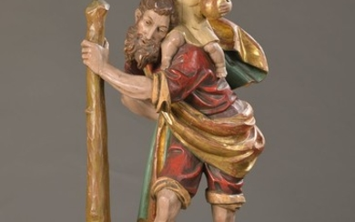 Large figure of a saint, probably Southern...