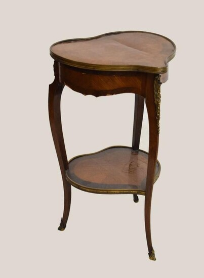 Late 19th/early 20th Century French lady's kingwood and tulipwood...