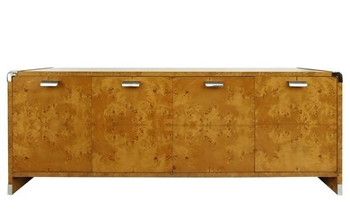 Leon Rosen Pace Collection Burl Wood Credenza with