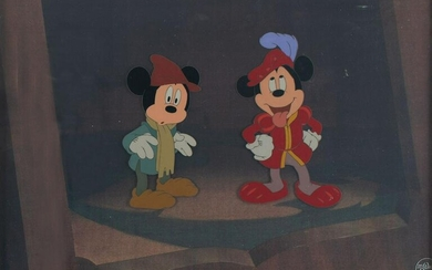 Mickey Mouse and the Prince production cel and