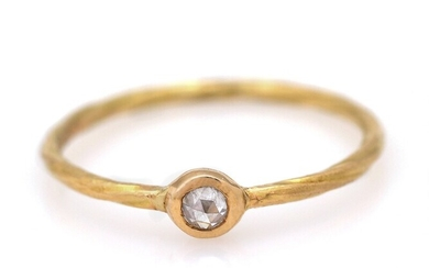 Natascha Trolle: A diamond ring set with rose-cut diamond, mounted in 18k gold. W. 3.9...