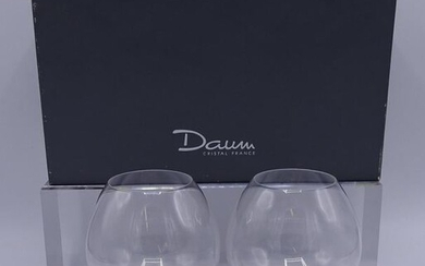 "PR. DAUM CRYSTAL FRANCE GLASSES WITH BOX 6""H"