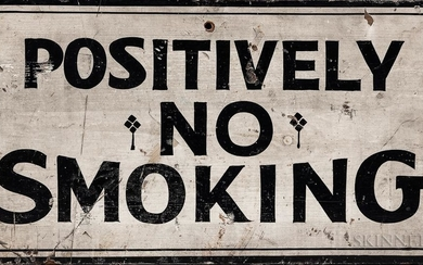 "Painted Wood ""Positively No Smoking"" Sign"