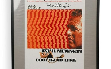 Paul Newman Signed Cool Hand Luke Poster