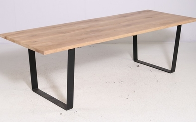 PremiumOak Exclusive. Danish produced plank table in solid 'Invisible' oiled oak, 90 x 240 cm.