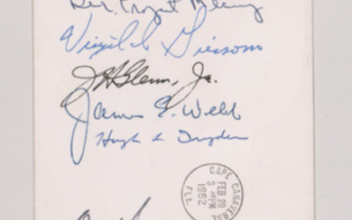 Project Mercury Signed Postal Cover