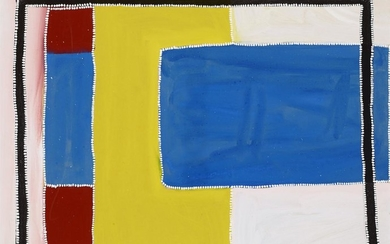 RAMMEY RAMSEY (born 1935, Gija language group) Untitled (My Country) 2007 natural earth pigments and synthetic polymer on board