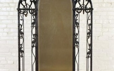 RARE GOTHIC STYLE IRON HALL RACK MARBLE C.1870