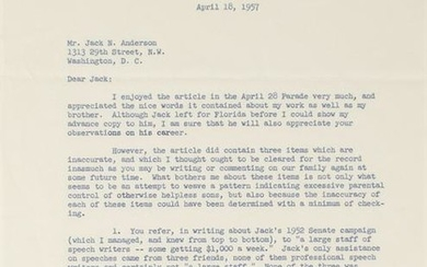 Robert F. Kennedy Typed Letter Signed to Reporter Jack