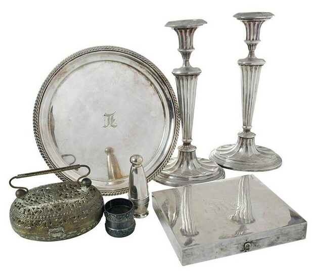 Seven Silver Plated Table Items