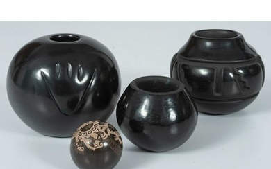 Sherry Tafoya (Santa Clara, b. 1956) Blackware Jar