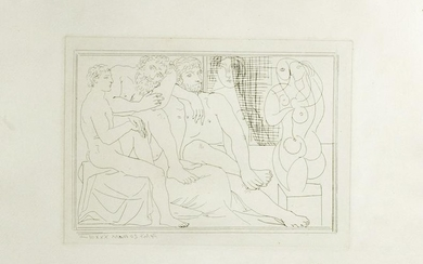 Signed Picasso Etching - Vollard Suite #149