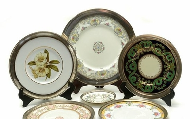 Six Continental Porcelain Decorative Plates with