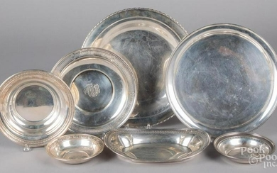 Sterling silver serving dishes, 65 ozt.