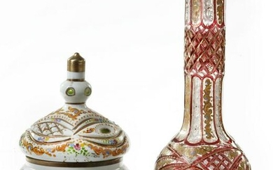 TWO BOHEMIAN GLASS VESSELS FOR THE ISLAMIC MARKET
