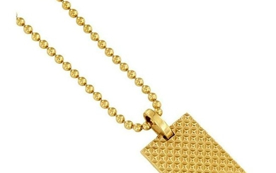 Tiffany & Co. Diamond Point Rectangle Pendant in 18