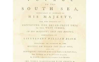 [Travel & Exploration] [Bligh, William] A Voyage to the...