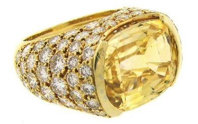 VAN CLEEF & ARPELS Yellow Sapphire Diamond Gold Bombe