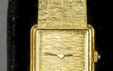 Vintage Corum 18K Yellow Gold Lady's Wrist Watch