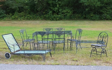 Vintage Wrought Iron Outdoor Dining Group
