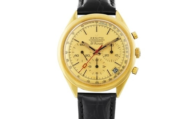 ZENITH | EL PRIMERO, REF G583 YELLOW GOLD CHRONOGRAPH WRISTWATCH WITH DATE CIRCA 1969