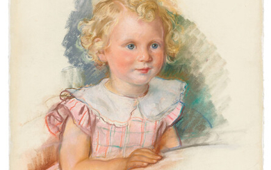 Zinaida Serebriakova (1884-1967), Portrait of a young girl with blonde ringlets