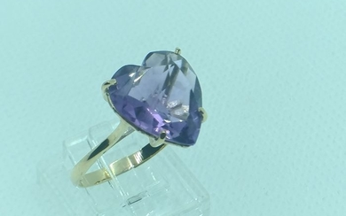 18 kt. Yellow gold - Ring - 5.80 ct Amethyst