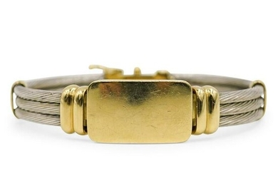 18k Gold and Stainless Steel Bracelet